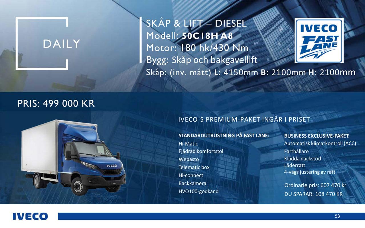 Iveco Daily Skåp & lift - kampanj