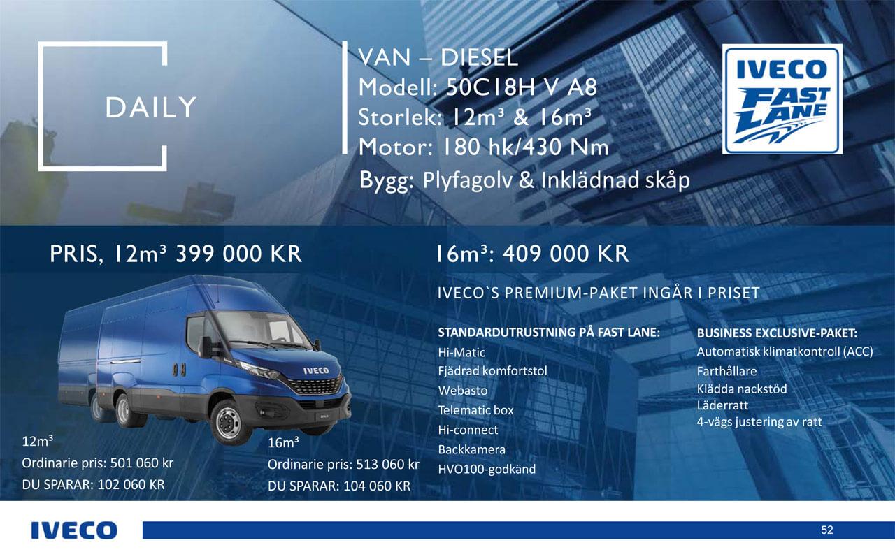 Iveco Daily Skåpbil Diesel 12-16- kampanj