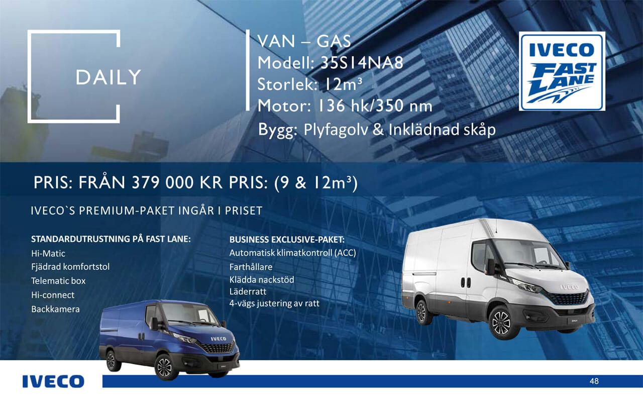Iveco Daily Skåpbil gas - kampanj