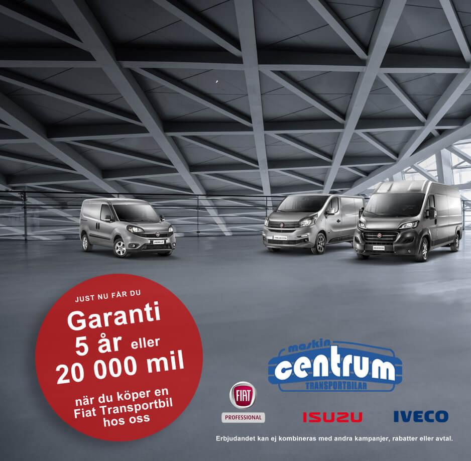 Kampanj Fiat transportbil garanti